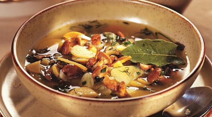 Зимний суп из лисичек