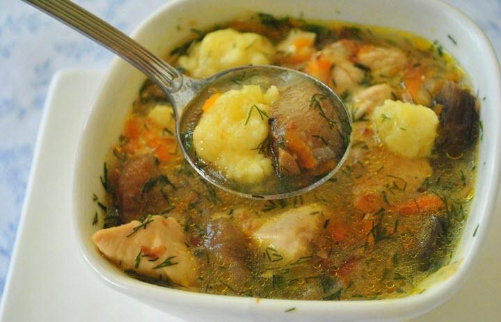 Вариант грибного супа с пясом