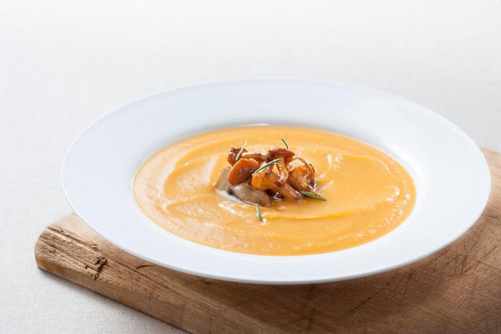 Сливочный суп из лисичек