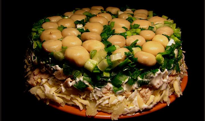 Грибная поляна - салат