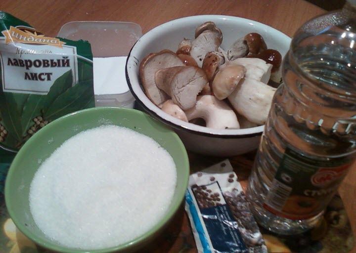 Подготовка к маринованию белых грибов
