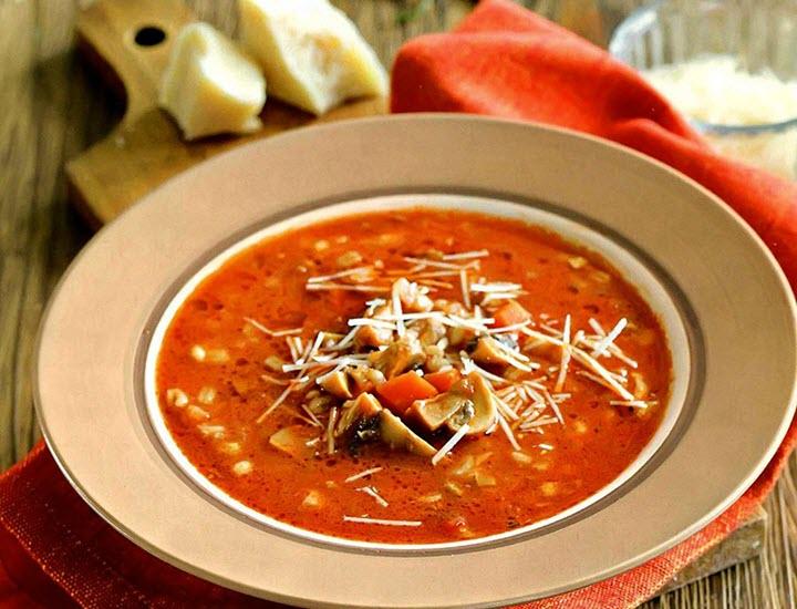 Вариант супа с перловкой и грибами