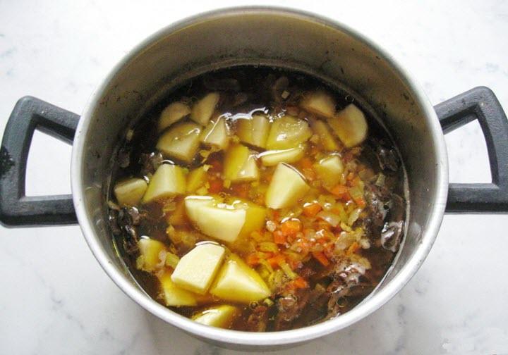 Вариант супа с грибами и перловкой