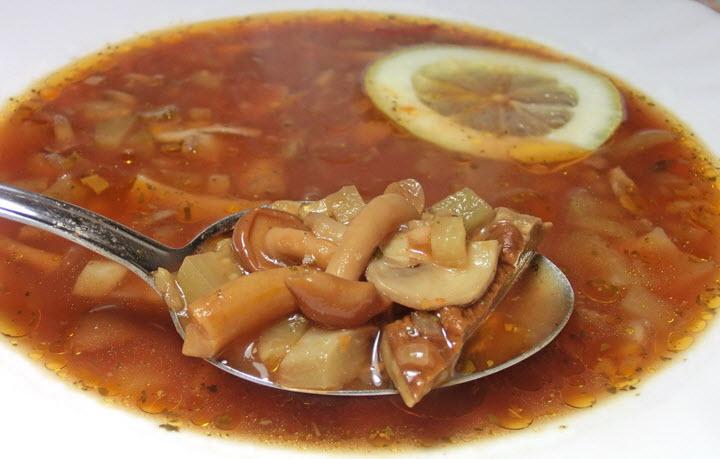 Суп из свежих опят