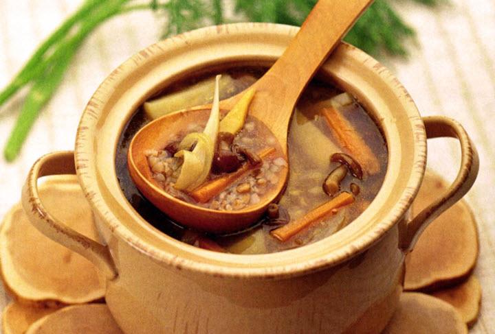 Суп с грибами и с мясом