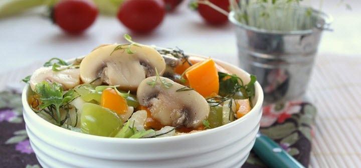 Грибной салат с шампиньонами