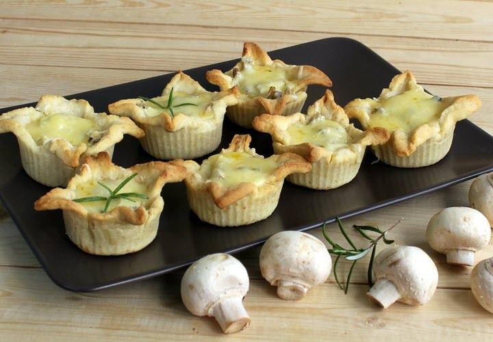 жюльен из грибов и курицы в тарталетках рецепт