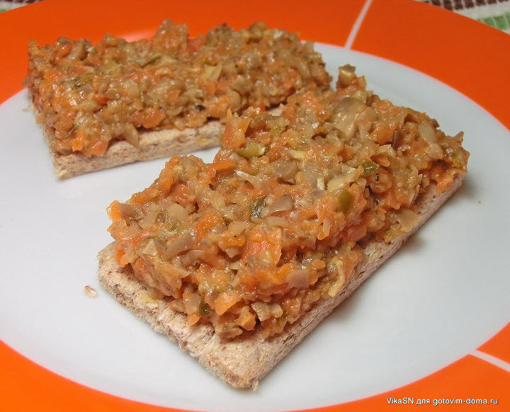 Бутерброды с грибной икрой