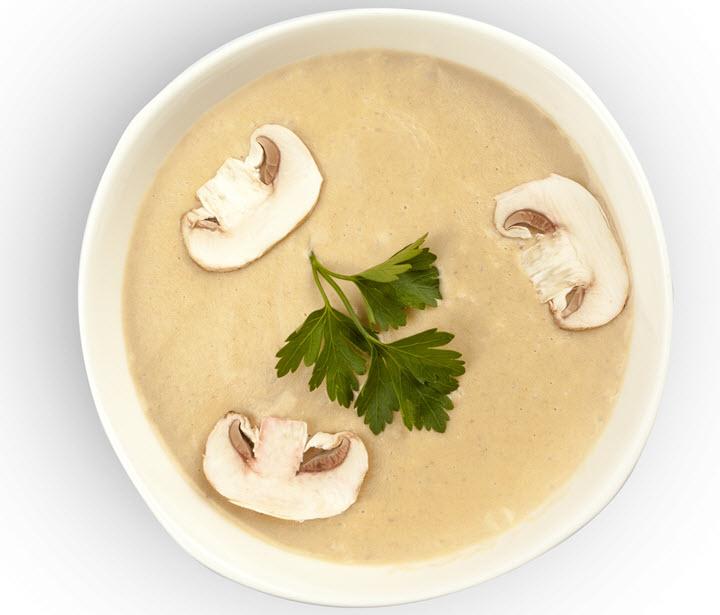 Суп с сыром и грибами