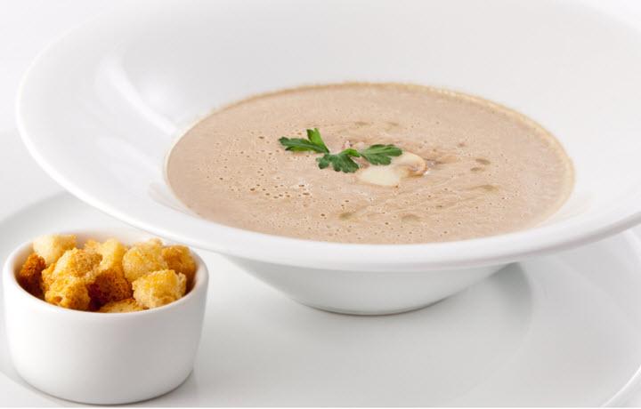 Крем суп с грибами и сыром