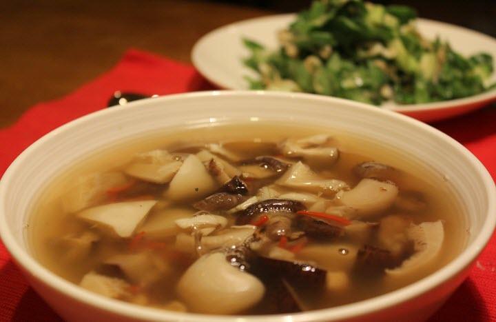 Вариант супа из вешенок