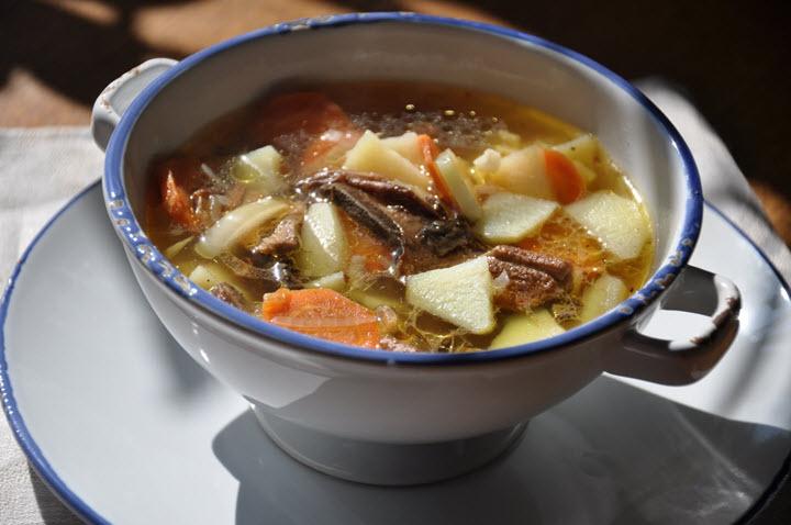 готовый суп из подберезовиков