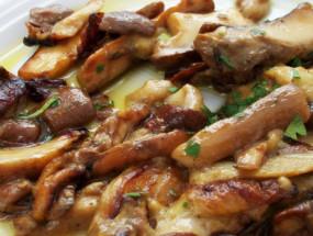 Жареные белые грибы
