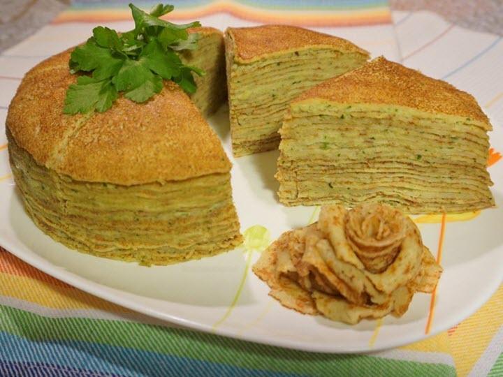 Пирог с курино-грибной начинкой