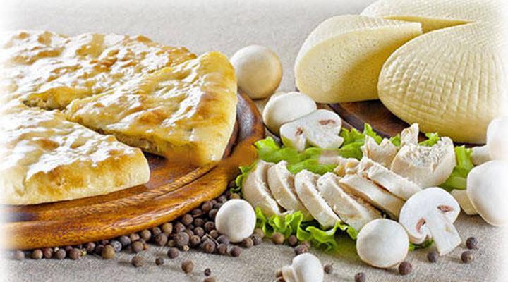 Осетинский пирог с грибами и куриным мясом