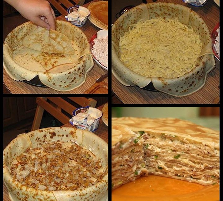 Приготовление блинного торта