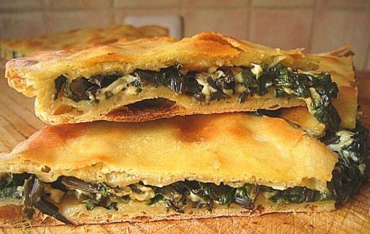 Осетинский пирог с грибной начинкой