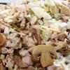 Салат с копчёной курицей и грибами