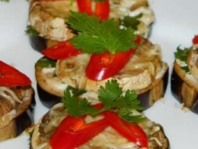 Баклажаны с грибами